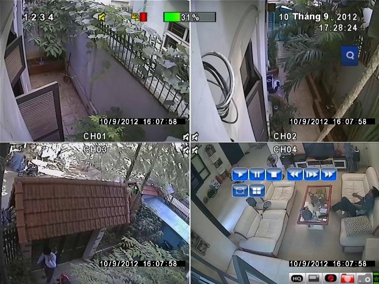 khu vực được lặt đặt camera quan sát toàn bộ khu vực
